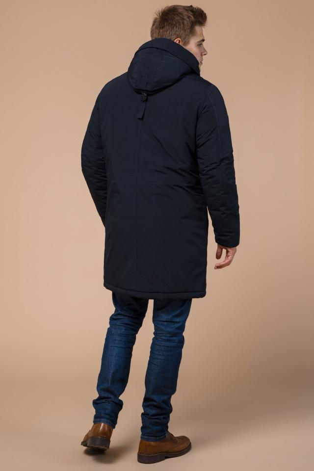 """Мужская зимняя парка темно-синяя модель 23675 Braggart """"Arctic"""" фото 5"""