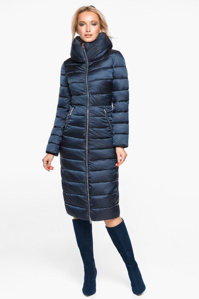 """Сапфировая куртка с карманами женская осенне-весенняя модель 31074 Braggart """"Angel's Fluff"""" фото 5"""