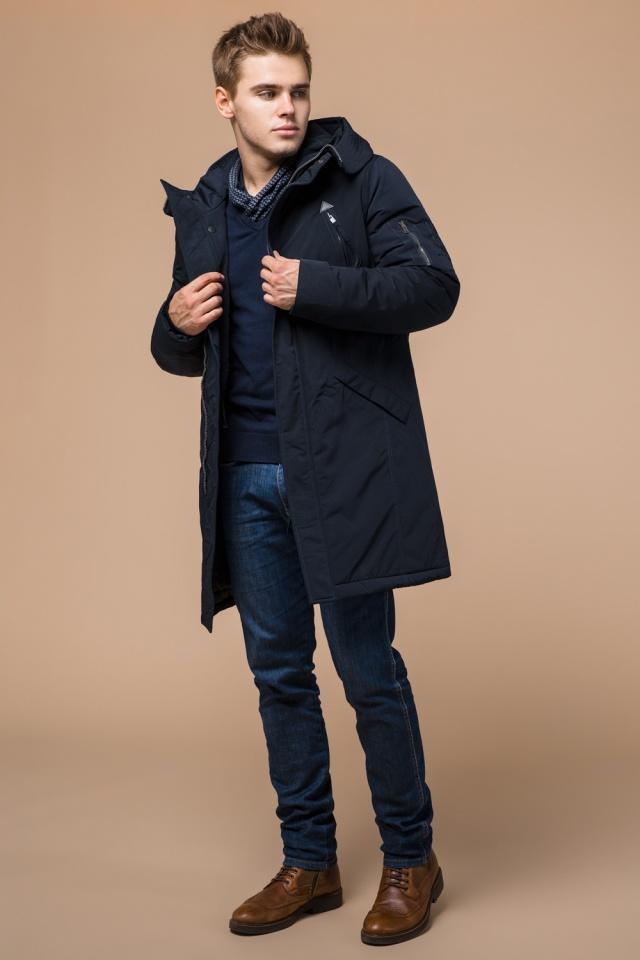 """Мужская зимняя парка темно-синяя модель 23675 Braggart """"Arctic"""" фото 3"""