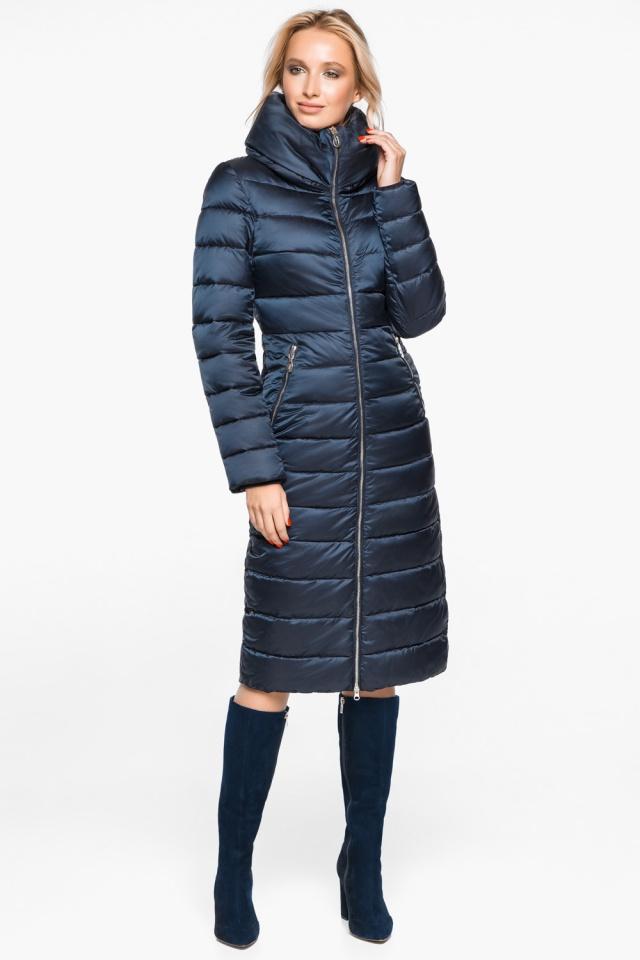 """Сапфировая куртка с карманами женская осенне-весенняя модель 31074 Braggart """"Angel's Fluff"""" фото 2"""