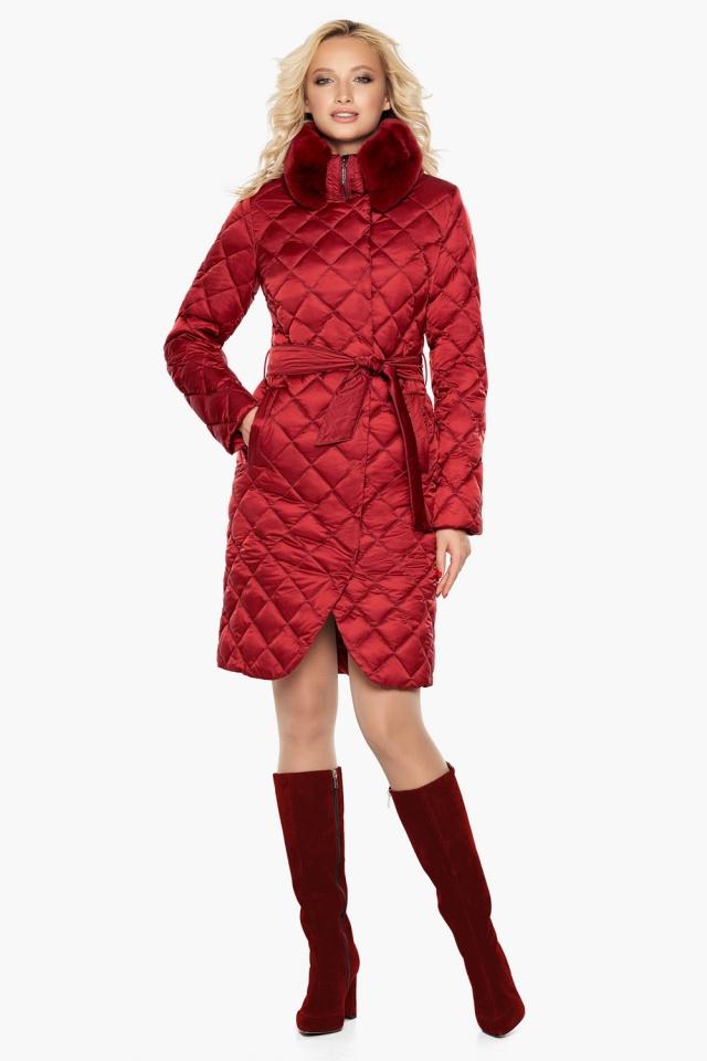 """Женская куртка рубинового цвета фирменная модель 31030 Braggart """"Angel's Fluff"""" фото 2"""