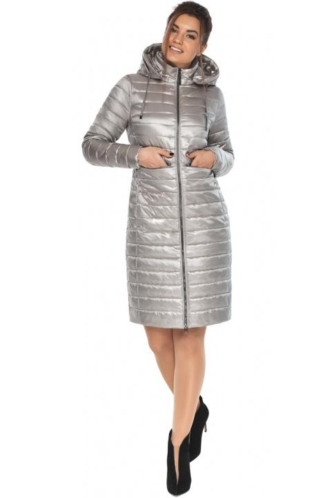 """Трендовая женская куртка цвет перламутровый светло-серый модель 68410 Braggart """"Angel's Fluff"""" фото 1"""
