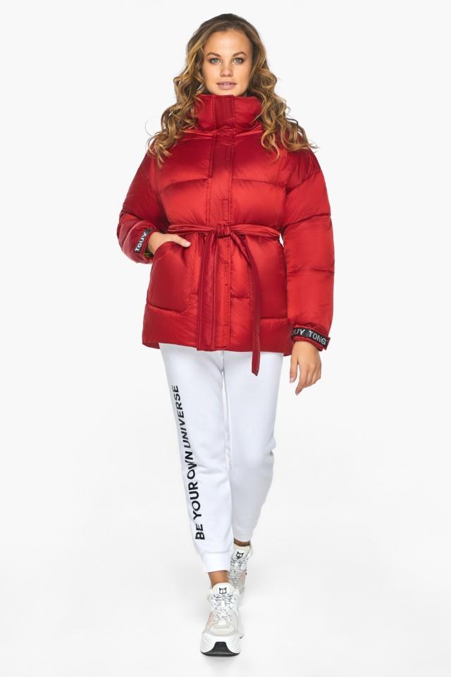 Простора й помітна молодіжна куртка для осені рубінова модель 21045 Youth фото 2