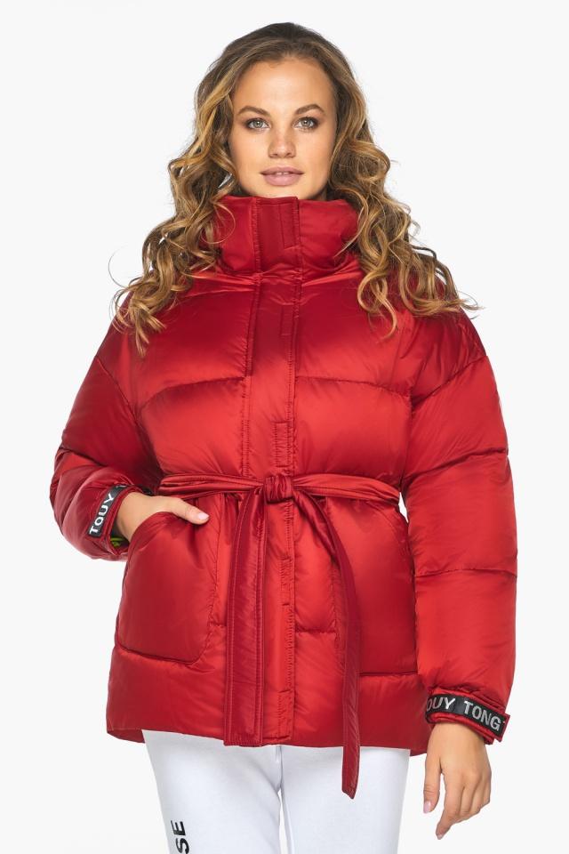 Простора й помітна молодіжна куртка для осені рубінова модель 21045 Youth фото 4