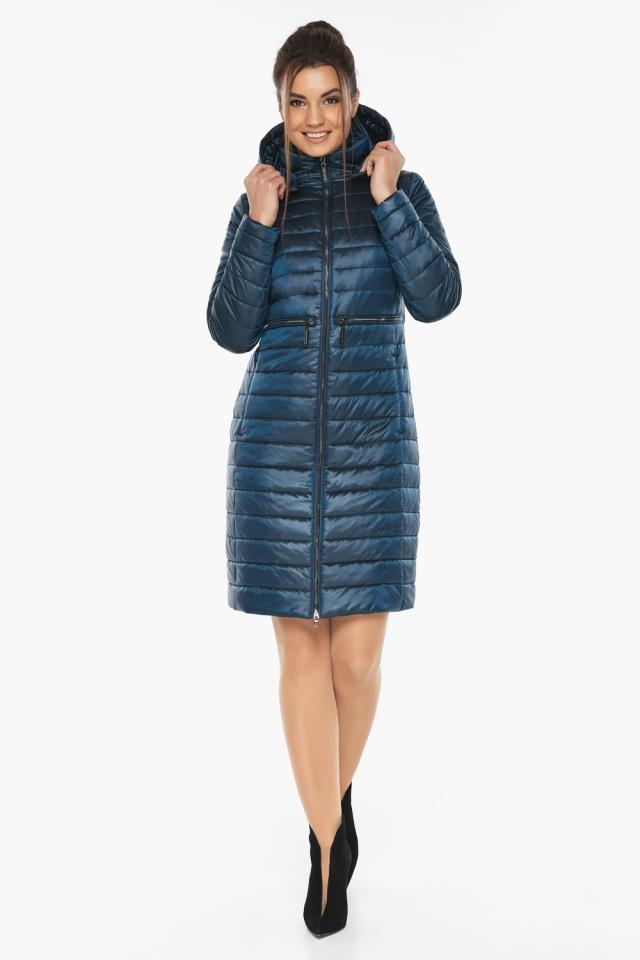"""Практичная куртка женская цвет темная лазурь модель 68410 Braggart """"Angel's Fluff"""" фото 2"""