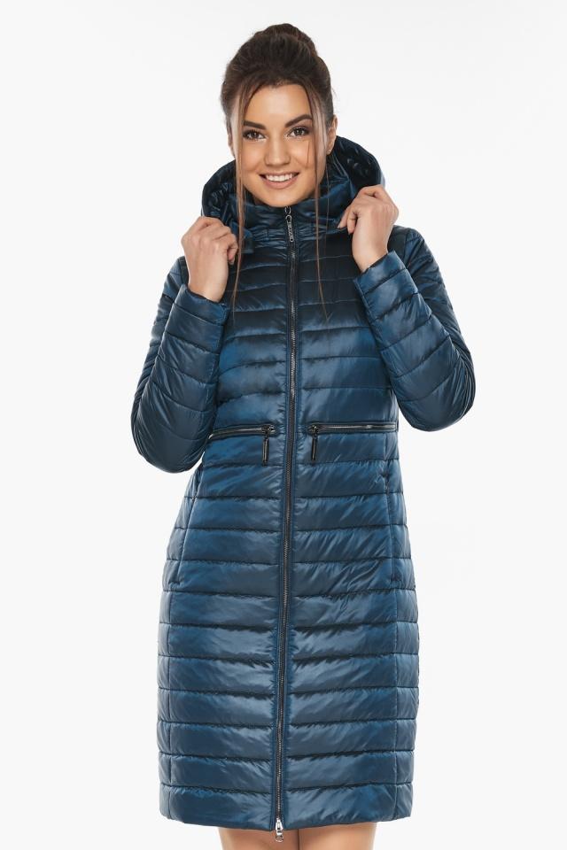"""Практичная куртка женская цвет темная лазурь модель 68410 Braggart """"Angel's Fluff"""" фото 4"""