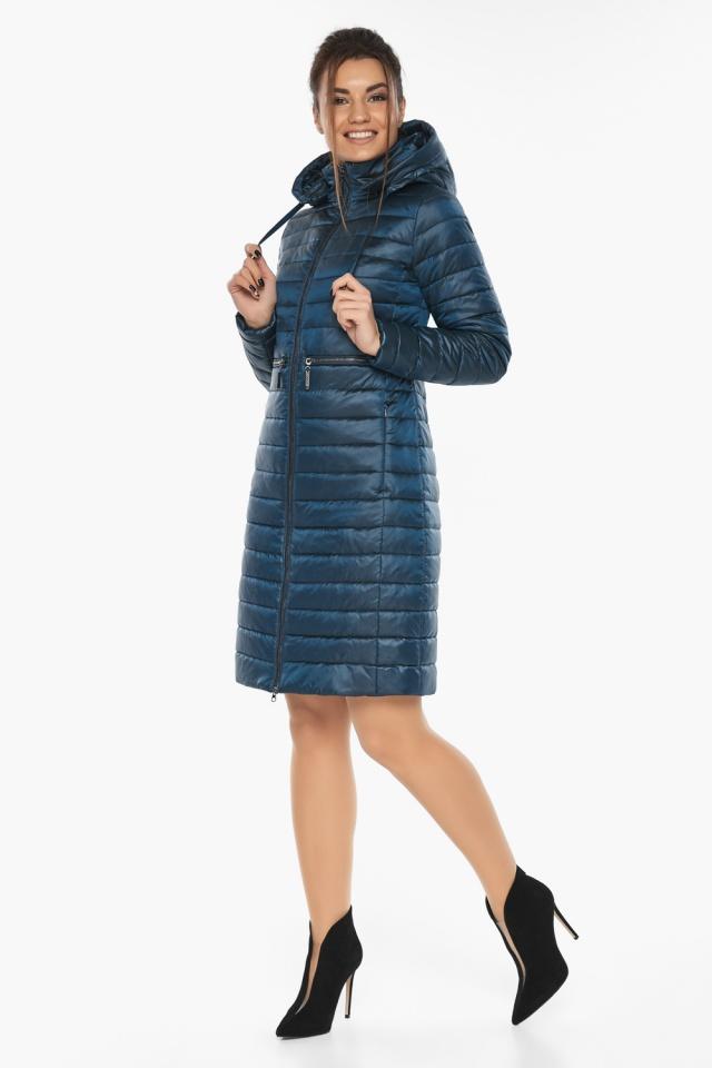 """Практичная куртка женская цвет темная лазурь модель 68410 Braggart """"Angel's Fluff"""" фото 3"""