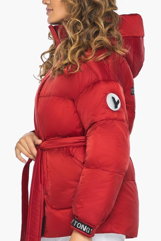 Простора й помітна молодіжна куртка для осені рубінова модель 21045 Youth фото 6