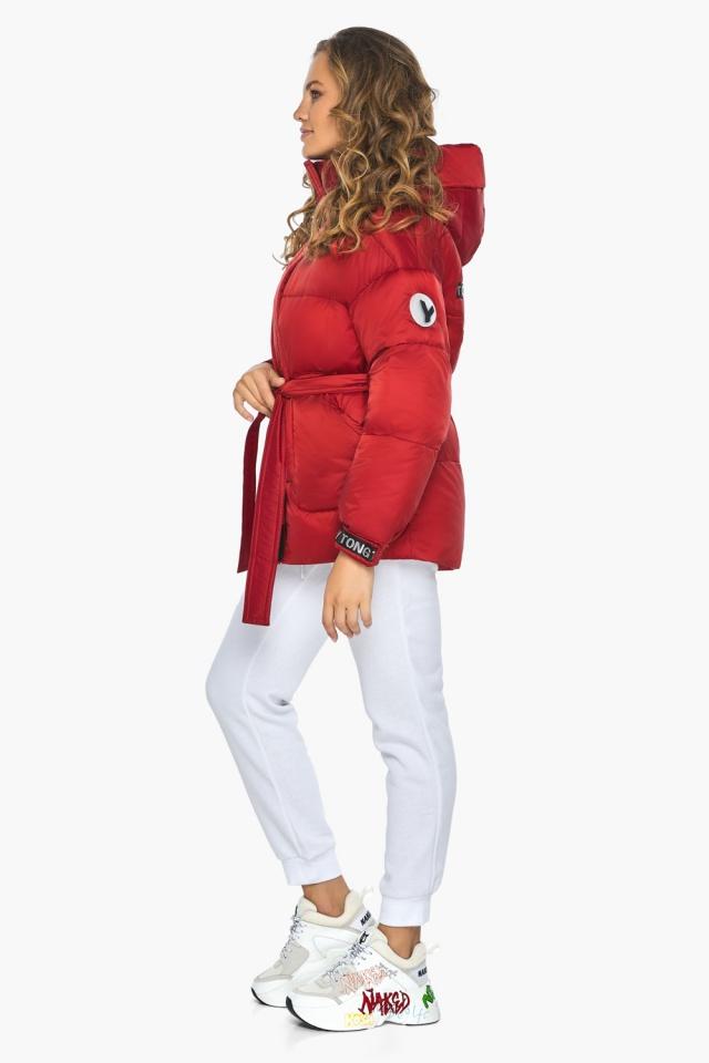 Простора й помітна молодіжна куртка для осені рубінова модель 21045 Youth фото 3