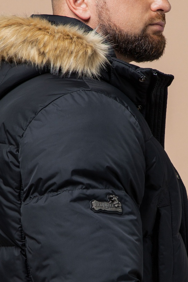 """Классическая мужская зимняя куртка большого размера графитовя модель 2084 Braggart """"Titans"""" фото 8"""