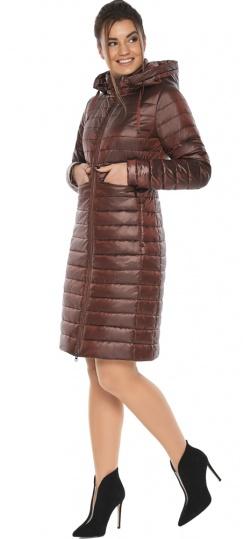 """Куртка с капюшоном каштановая женская модель 68410 Braggart """"Angel's Fluff"""" фото 1"""