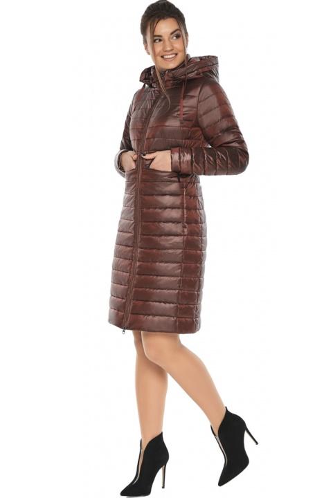 "Куртка з капюшоном каштанова жіноча модель 68410 Braggart ""Angel's Fluff"" фото 1"