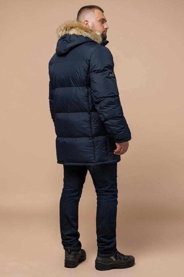 """Стильная курточка большого размера зимняя мужская тёмно-синяя модель 2084 Braggart """"Titans"""" фото 5"""