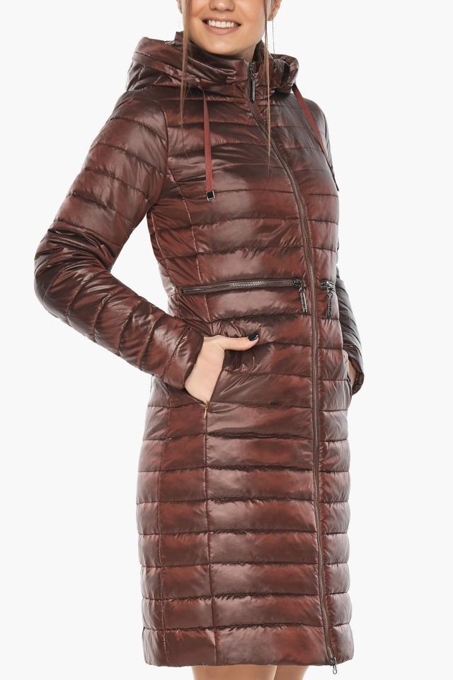 """Куртка с капюшоном каштановая женская модель 68410 Braggart """"Angel's Fluff"""" фото 7"""