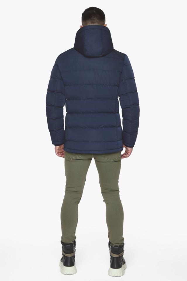 """Синяя зимняя куртка с ветрозащитной планкой мужская модель 44516 Braggart """"Dress Code"""" фото 8"""