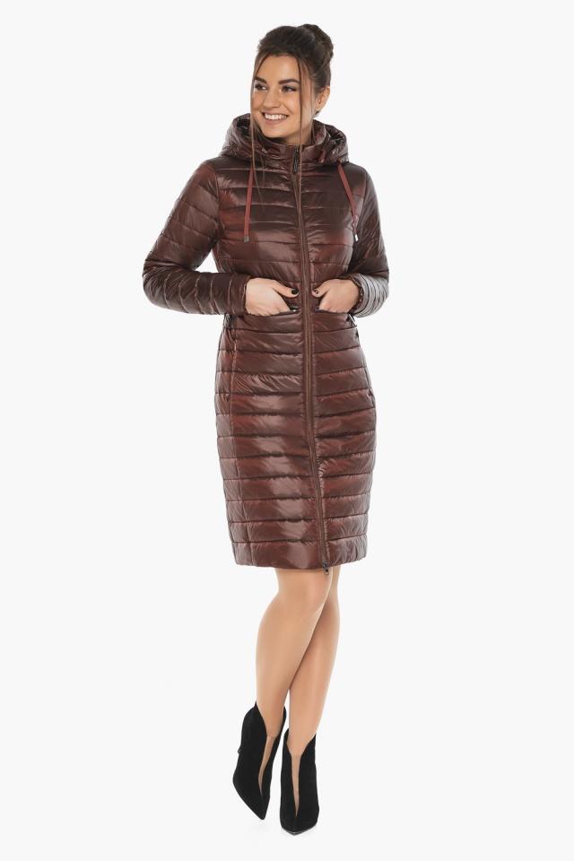 """Куртка с капюшоном каштановая женская модель 68410 Braggart """"Angel's Fluff"""" фото 3"""