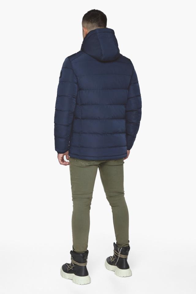 """Синяя зимняя куртка с ветрозащитной планкой мужская модель 44516 Braggart """"Dress Code"""" фото 7"""