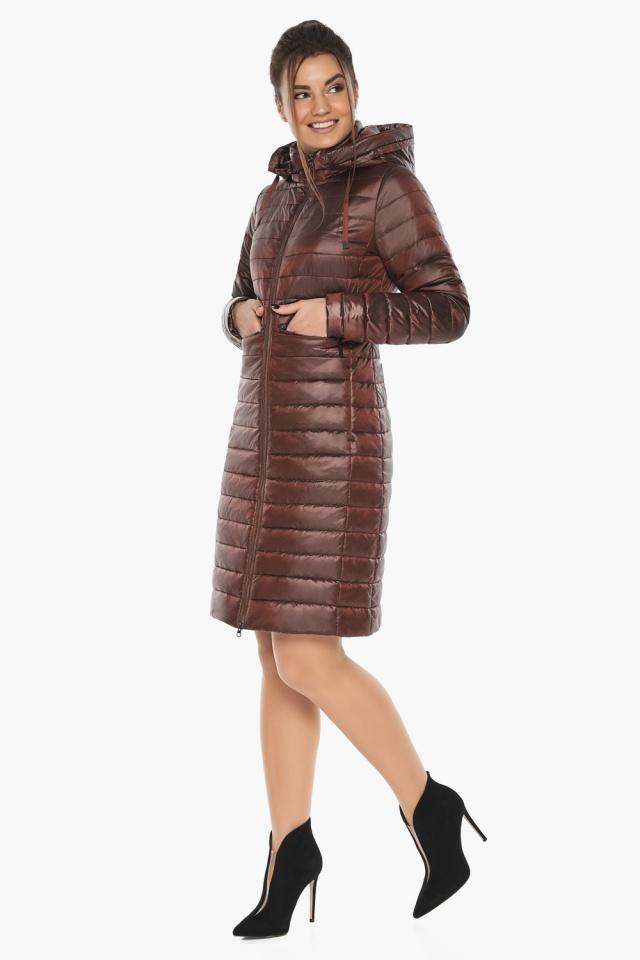"""Куртка с капюшоном каштановая женская модель 68410 Braggart """"Angel's Fluff"""" фото 2"""