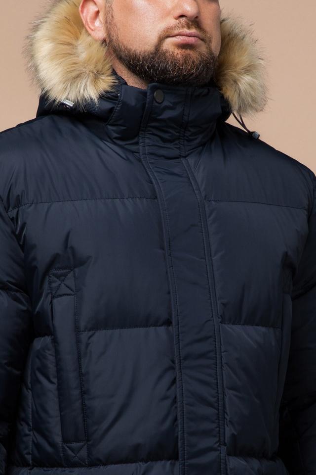 """Стильная курточка большого размера зимняя мужская тёмно-синяя модель 2084 Braggart """"Titans"""" фото 6"""