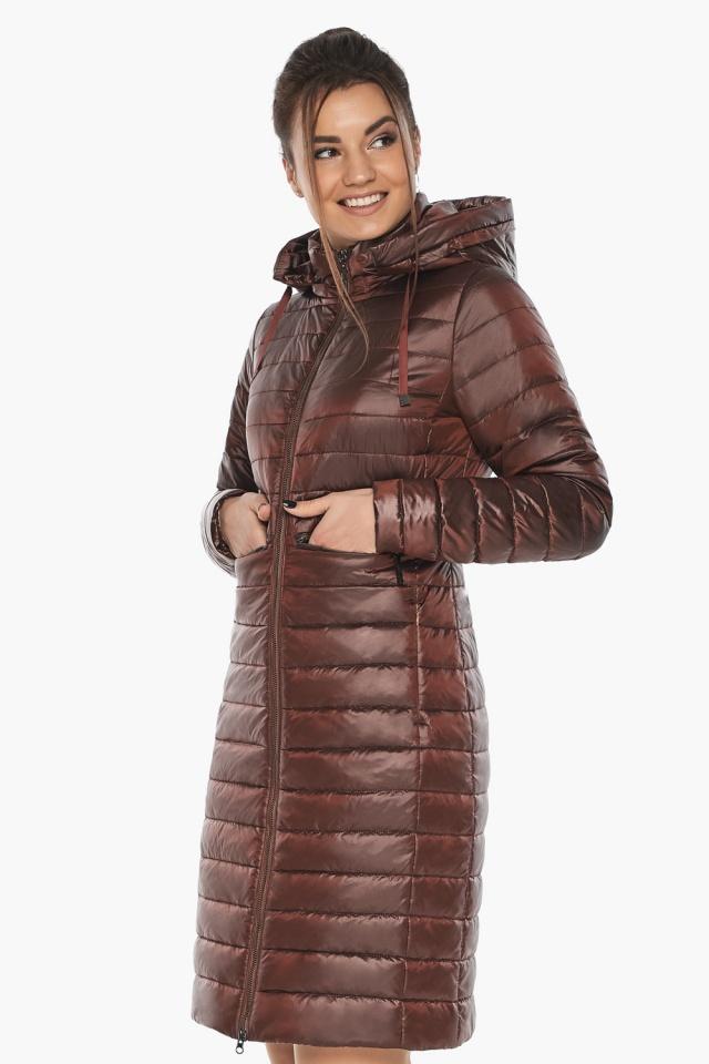 """Куртка с капюшоном каштановая женская модель 68410 Braggart """"Angel's Fluff"""" фото 5"""
