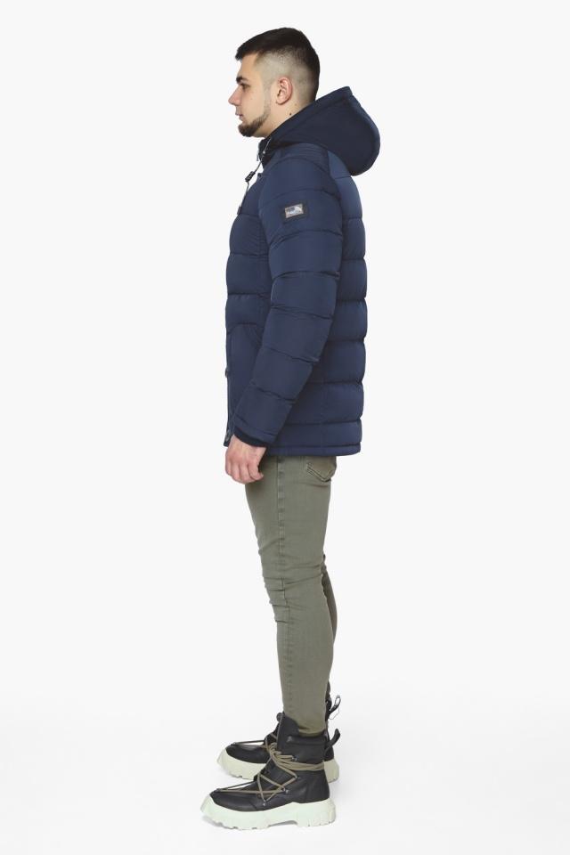 """Синяя зимняя куртка с ветрозащитной планкой мужская модель 44516 Braggart """"Dress Code"""" фото 6"""