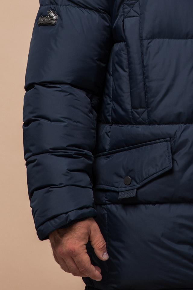 """Стильная курточка большого размера зимняя мужская тёмно-синяя модель 2084 Braggart """"Titans"""" фото 7"""