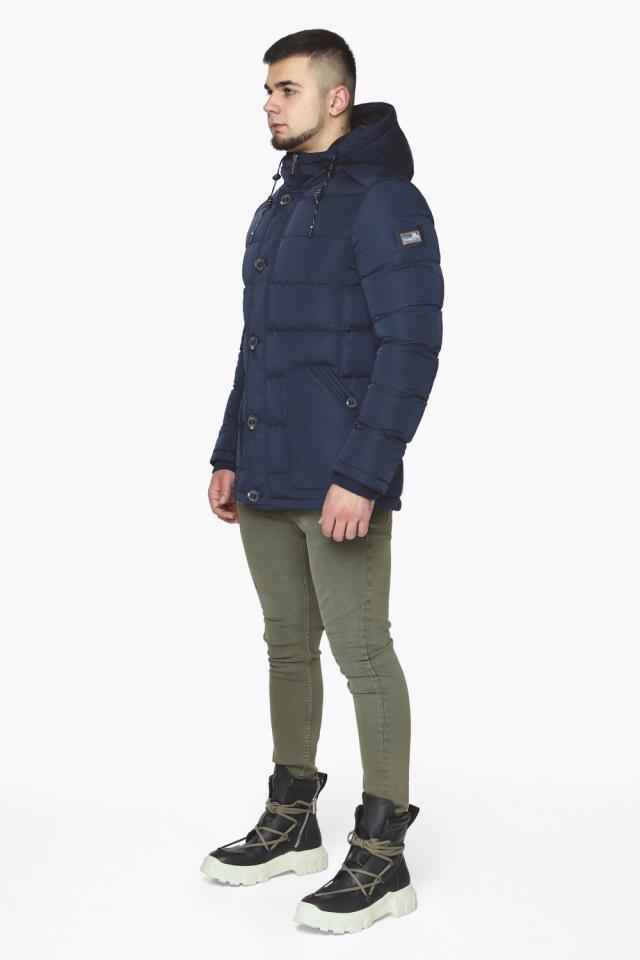 """Синяя зимняя куртка с ветрозащитной планкой мужская модель 44516 Braggart """"Dress Code"""" фото 5"""