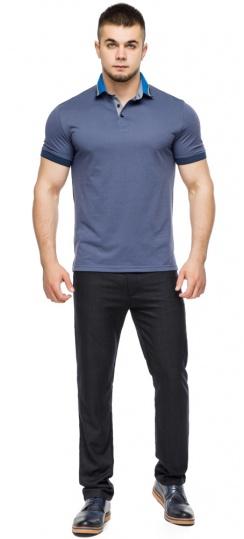 Трендовая футболка поло мужская цвет джинс модель 6285 Braggart фото 1