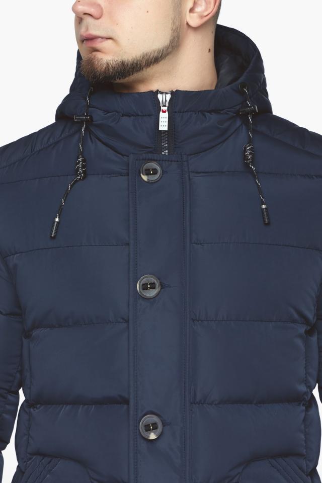 """Синяя зимняя куртка с ветрозащитной планкой мужская модель 44516 Braggart """"Dress Code"""" фото 10"""