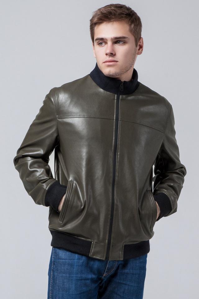 """Осенне-весенняя куртка высокого качества мужская цвета хаки модель 2970 Braggart """"Youth"""" фото 3"""