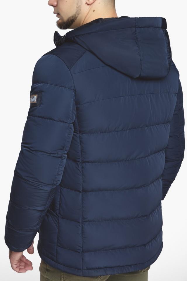 """Синяя зимняя куртка с ветрозащитной планкой мужская модель 44516 Braggart """"Dress Code"""" фото 11"""