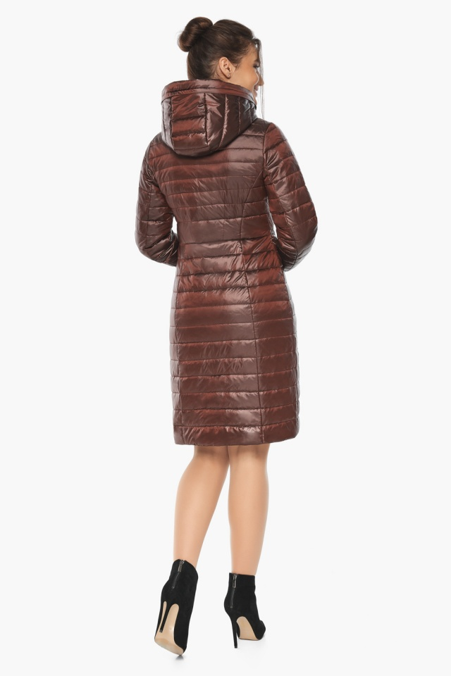 """Куртка с капюшоном каштановая женская модель 68410 Braggart """"Angel's Fluff"""" фото 6"""