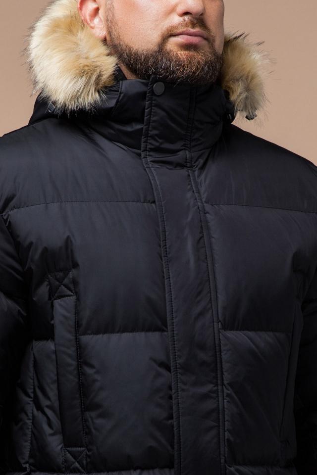"""Мужская зимняя практичная куртка большого размера чёрная модель 2084 Braggart """"Titans"""" фото 6"""