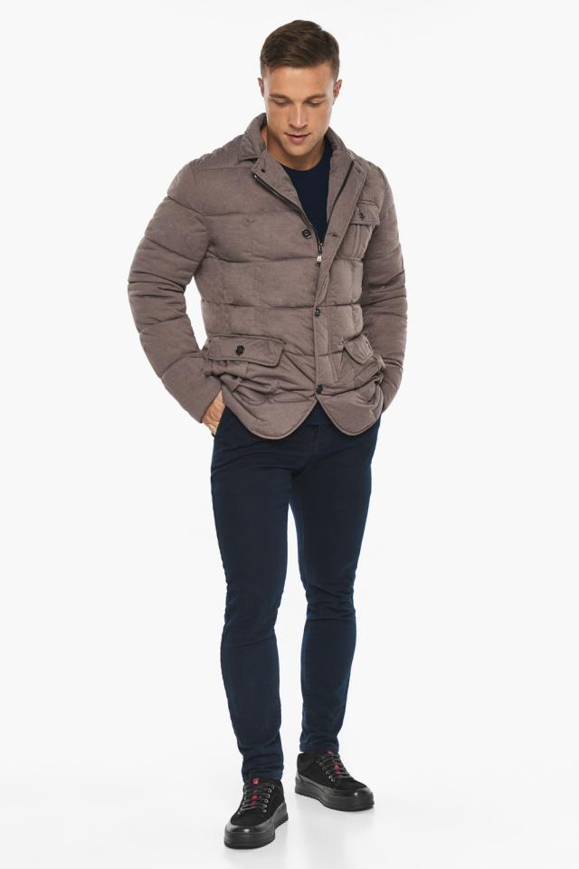 """Куртка – воздуховик с карманами зимний мужской ореховый модель 35230 Braggart """"Angel's Fluff Man"""" фото 4"""