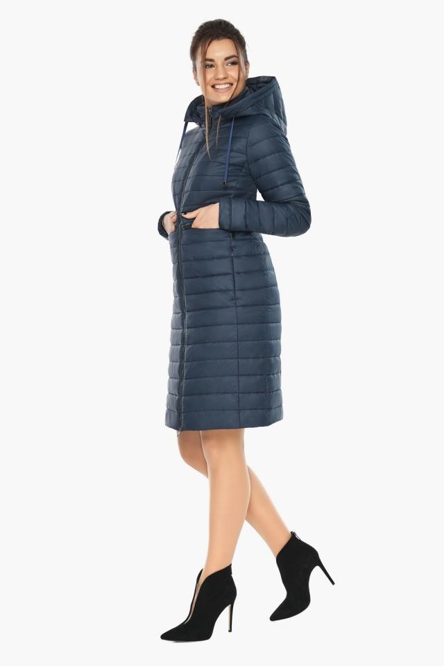 """Синяя куртка женская с карманами модель 68410 Braggart """"Angel's Fluff"""" фото 2"""