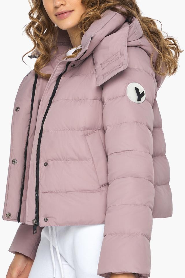 Модная осенняя куртка на девочку пудровая модель 21470 Youth фото 6