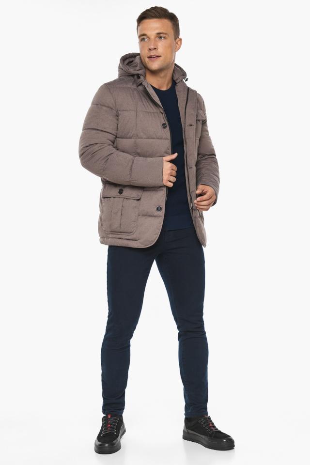 """Куртка – воздуховик с карманами зимний мужской ореховый модель 35230 Braggart """"Angel's Fluff Man"""" фото 6"""