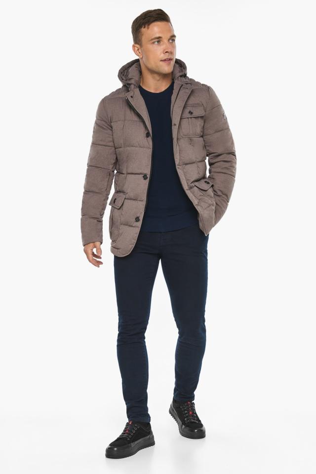 """Куртка – воздуховик с карманами зимний мужской ореховый модель 35230 Braggart """"Angel's Fluff Man"""" фото 5"""