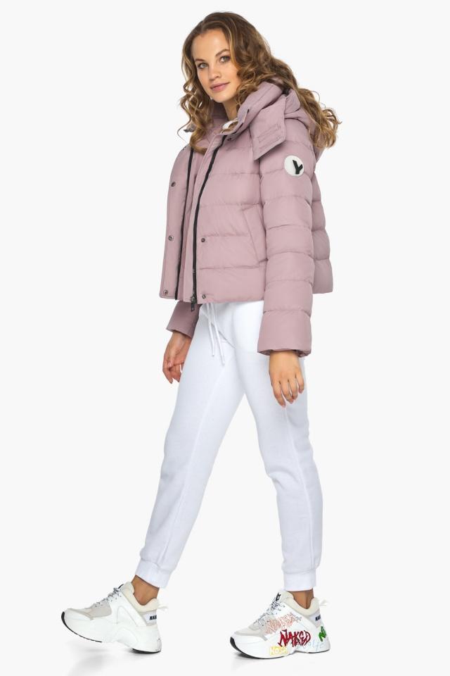 Модная осенняя куртка на девочку пудровая модель 21470 Youth фото 3