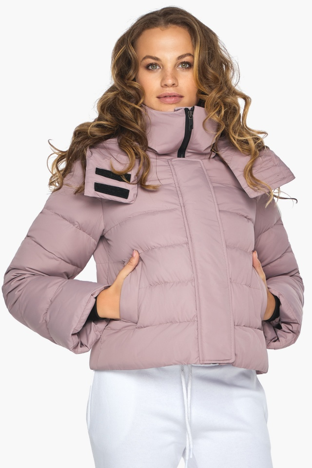 Модная осенняя куртка на девочку пудровая модель 21470 Youth фото 4