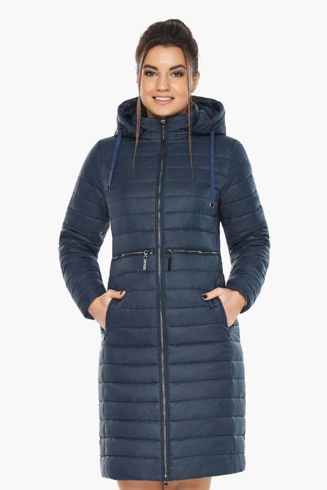 """Синяя куртка женская с карманами модель 68410 Braggart """"Angel's Fluff"""" фото 5"""