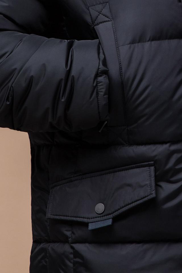 """Мужская зимняя практичная куртка большого размера чёрная модель 2084 Braggart """"Titans"""" фото 7"""
