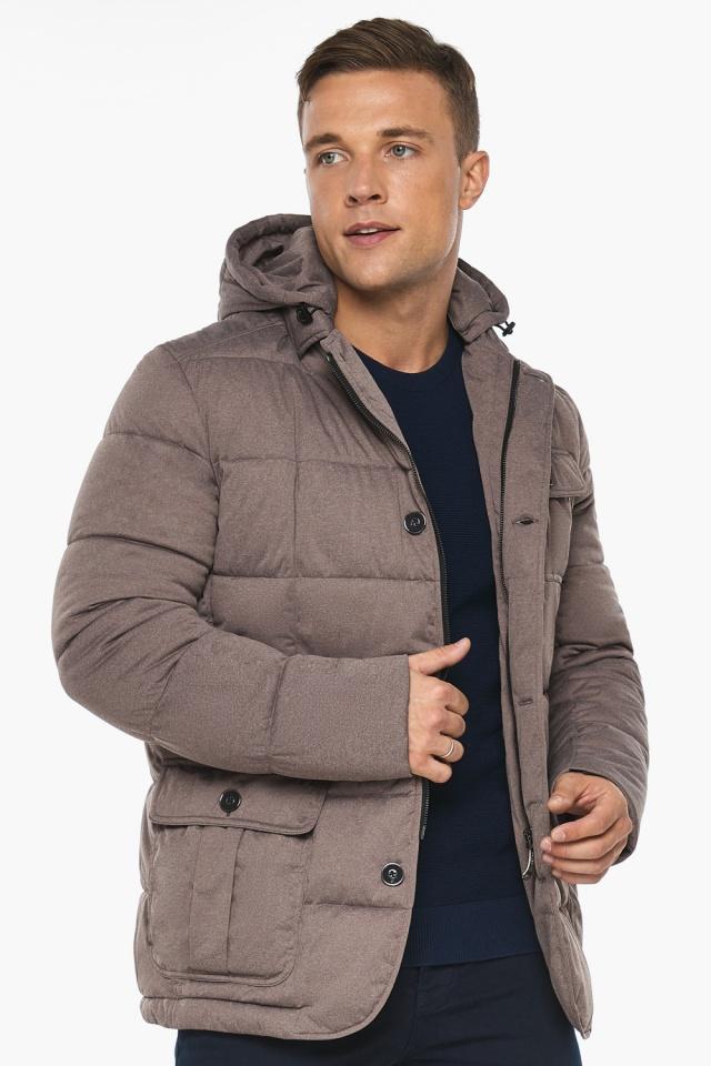 """Куртка – воздуховик с карманами зимний мужской ореховый модель 35230 Braggart """"Angel's Fluff Man"""" фото 3"""