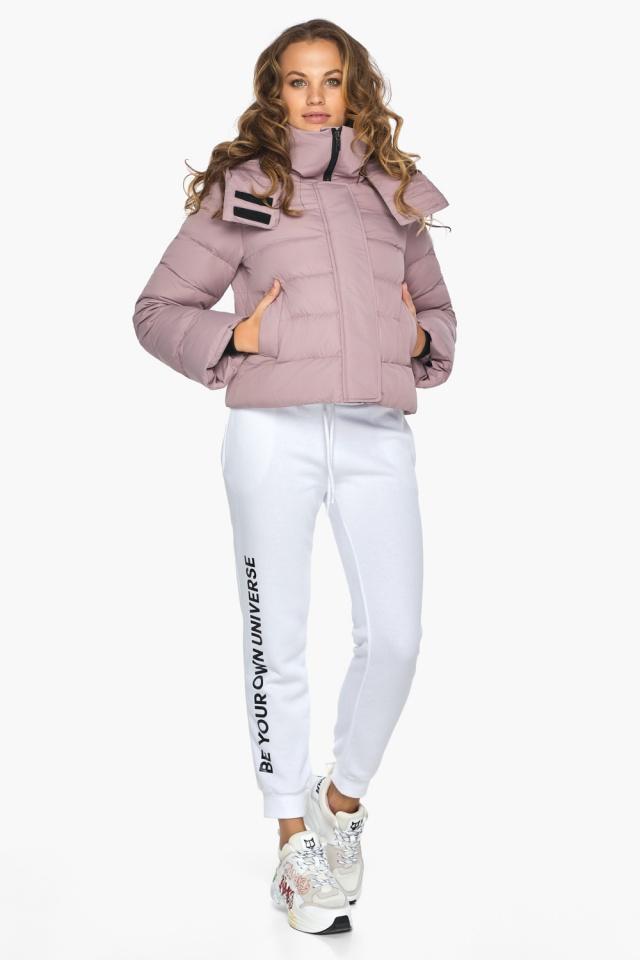 Модная осенняя куртка на девочку пудровая модель 21470 Youth фото 2
