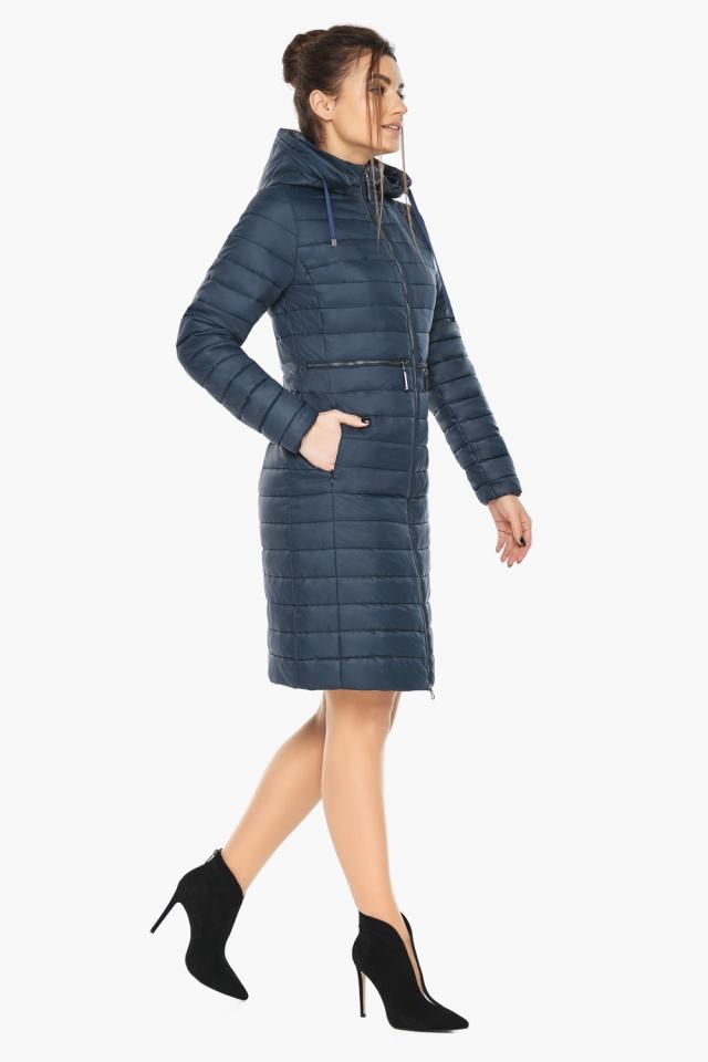 """Синяя куртка женская с карманами модель 68410 Braggart """"Angel's Fluff"""" фото 4"""