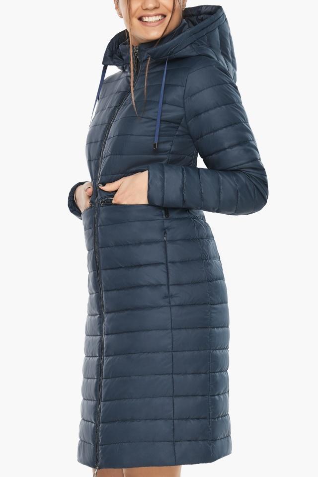 """Синяя куртка женская с карманами модель 68410 Braggart """"Angel's Fluff"""" фото 7"""