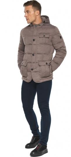 """Куртка – воздуховик с карманами зимний мужской ореховый модель 35230 Braggart """"Angel's Fluff Man"""" фото 1"""