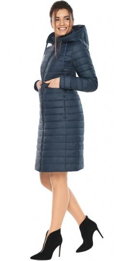 """Синяя куртка женская с карманами модель 68410 Braggart """"Angel's Fluff"""" фото 1"""