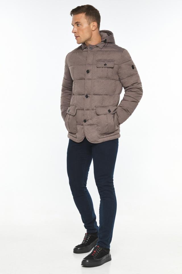 """Куртка – воздуховик с карманами зимний мужской ореховый модель 35230 Braggart """"Angel's Fluff Man"""" фото 2"""