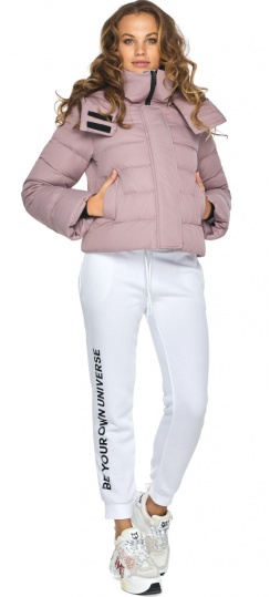 Короткая куртка на девочку осень пудровая модель 21470 Youth фото 1